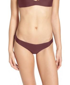 Mikoh Zuma Bikini Bottoms - Burgundy