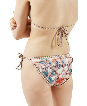 Topshop Floral Geo Tie Bikini Bottoms US (fits like 2-4) - Ivory
