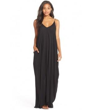 Elan V-Back Cover-Up Maxi Dress  - Black