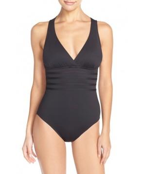 La Blanca Cross Back One-Piece Swimsuit  - Black