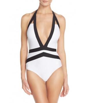 Ted Baker London 'Ralinda' Halter One-Piece Swimsuit Size  - White