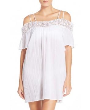 La Blanca 'Island Fare' Cotton Cover-Up Slipdress /Medium - White
