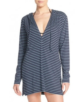 Tommy Bahama Stripe Hoodie Cover-Up