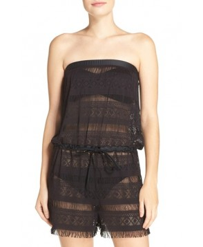 Blush By Profile Taboo Cover-Up Romper  - Black