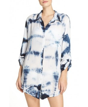 Green Dragon Big Sur Cover-Up Shirt  - Blue