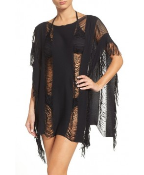 Maaji Coconut Flavor Cover-Up Poncho Size One Size - Black