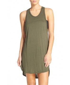 Leith Racerback Cover-Up Tank Dress - Green
