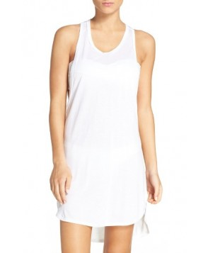 Leith Racerback Cover-Up Tank Dress - White
