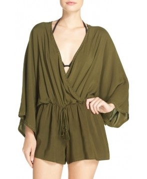 Vince Camuto Cover-Up Romper /Small - Green