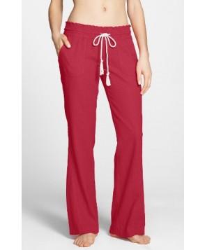 Roxy 'Oceanside' Beach Pants  - Red
