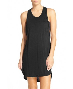 Leith Racerback Cover-Up Tank Dress - Black