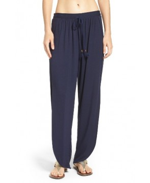 Robin Piccone Side Split Cover-Up Pants  - Blue