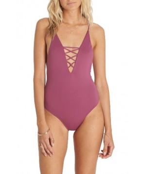 Billabong Sol Searcher Lace-Up One-Piece Swimsuit  - Purple