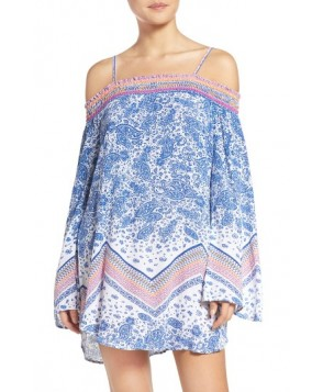 Green Dragon Sunset Beach Cover-Up Tunic
