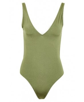 Topshop Pamela One-Piece Swimsuit  US  - Green