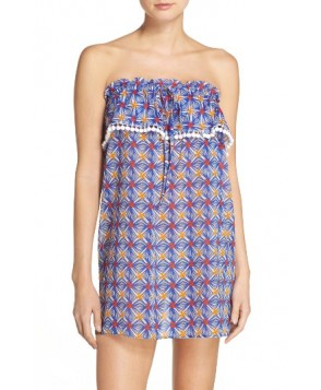 Milly Anguilla Cover-Up Dress, Size Petite - Blue