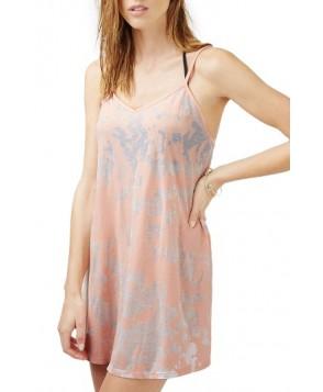 Topshop Burnout Sundress - Pink
