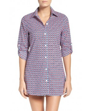 Tommy Bahama Geo-Graphy Cover-Up Shirt