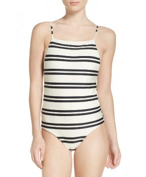 Vix Swimwear Classic Drop One-Piece Swimsuit - White