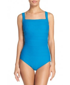 Miraclesuit 'Spectra' Banded Maillot - Blue/green