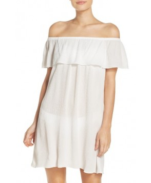 Becca Southern Belle Off The Shoulder Cover-Up Dress - White