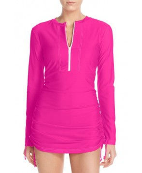 Mott 50 'Sonja' Long Sleeve Half Zip Convertible Swimdress - Pink