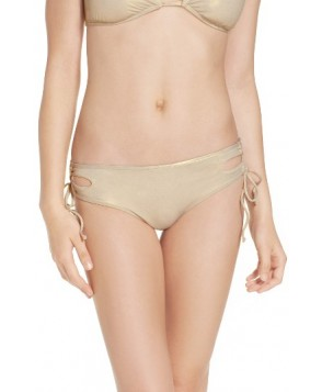 The Bikini Lab Hot Shine Laced Bikini Bottoms