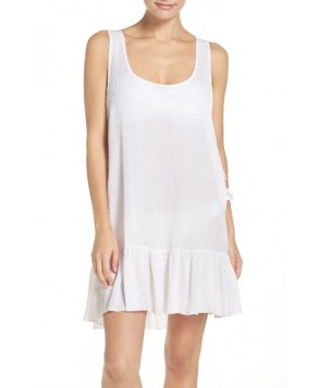Elan Side Tie Cover-Up Dress - White