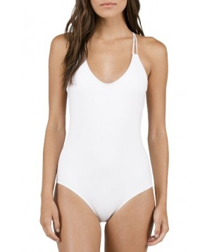 Volcom Simply Solid One-Piece Swimsuit - White
