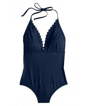 J.crew Scallop One-Piece Swimsuit - Blue