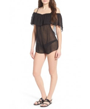 Lira Clothing Marina Cover-Up Romper - Black