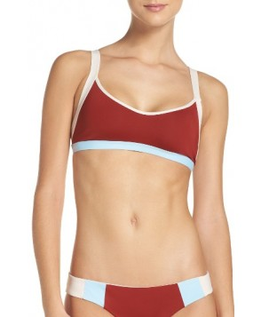 L Space MAC Colorblock Bikini Top - Red