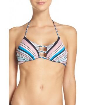 The Bikini Lab Reversible Bikini Top - Blue