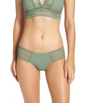 Robin Piccone 'Sophia' Crochet Bikini Bottoms - Green