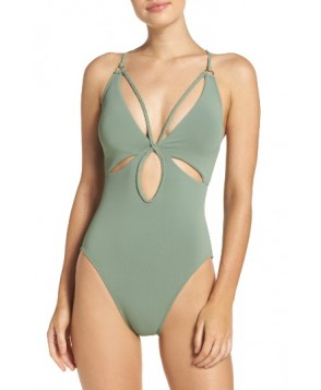 Robin Piccone Ava One-Piece Swimsuit - Green