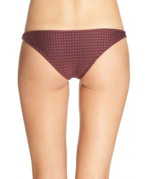 Acacia Swimwear Mesh Bikini Bottoms - Burgundy