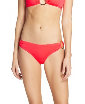 Milly Barbados Bikini Bottoms, Size Petite - Coral