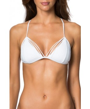 O'Neill Malibu Solids Strappy Triangle Bikini Top - White