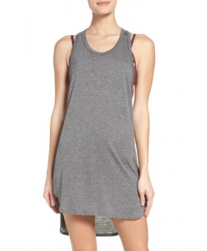 Leith Racerback Cover-Up Tank Dress - Grey