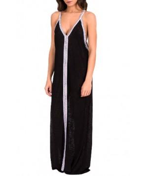Pitusa Cover-Up Maxi Dress - Black