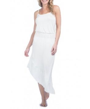 Green Dragon Asymmetrical Cover-Up Dress - White
