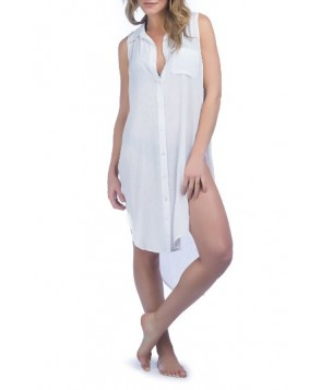 Green Dragon Crinkle Cover-Up Shirtdress - White