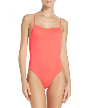 Solid & Striped Chelsea One-Piece Swimsuit - Orange