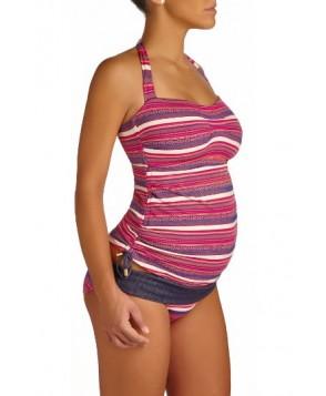 Pez D'Or Oaxaca Jacquard Tankini Maternity Swimsuit