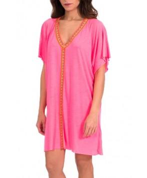 Pitusa Abaya Cover-Up Minidress - Pink