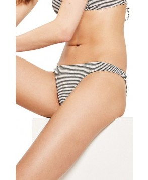 Topshop Metallic Stripe Bikini Bottoms US (fits like 0) - Grey