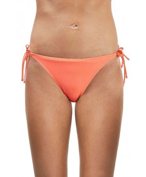 Topshop Slinky Side Tie Bikini Bottoms US (fits like 0) - Coral