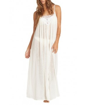 Billabong Lace Trim Maxi Cover-Up Dress - White