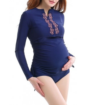 Kimi And Kai Maternity Rashguard Swimsuit - Blue