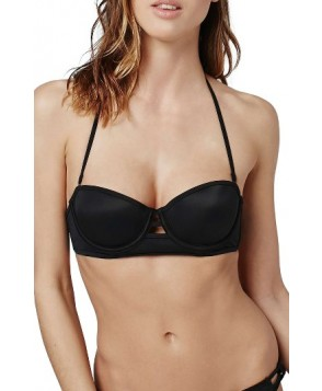 Topshop Bind Balconette Bikini Top US (fits like 0) - Black